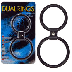 Dual Rings - Shaft And Balls Ring
